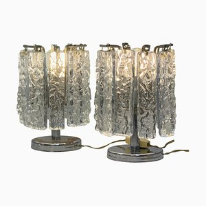 Small Table Lamps Attributed to Venini, 1960s, Set of 2