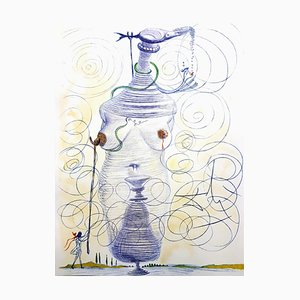 Large Flask Etching by Salvador Dali, 1967