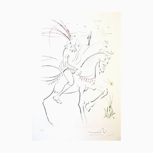 Viviane and Lancelot Hand Signed Etching by Salvador Dali, 1975