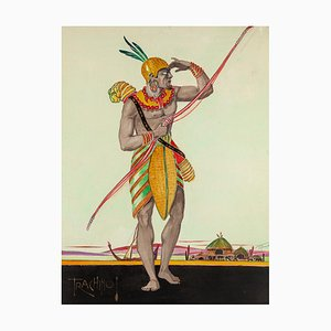 Trachino - Original Aquarell von Unknown Master - 1920er ca. 1923