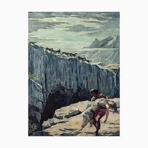 The Rescue - Original Tinte und Wasserfarbe von Gino Spalmach - 1920er 1920er