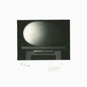 Desk - Original Etching on Paper by Mario Avati - 1960s 1960s