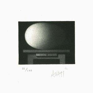 Schreibtisch - Original Radierung auf Papier von Mario Avati - 1960er 1960er