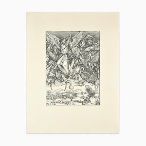 Killing Dragons - Woodcut Reproduction After A. Durer - 20th Century 20th Century
