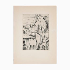 High Provence (Haute Provence) - Original Etching by H. de Waroquier - 1930 1930