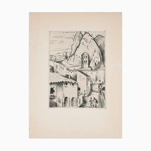 Hohe Provence (Haute Provence) - Original Radierung von H. de Waroquier - 1930 1930