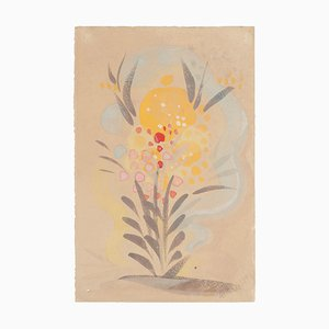 Fiori - Acquarello originale su carta di Jean Delpech - 1951 1951