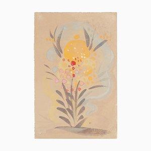 Flowers - Original Watercolor on Paper by Jean Delpech - 1951 1951