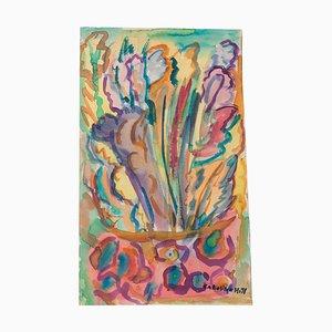 Composition - Original Aquarell auf Papier von Caroline Hill - 1971 1971