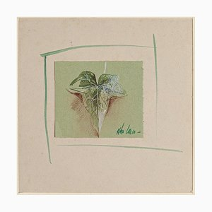 Leaf - Original Watercolor on Paper by Anne Walker - Late 20th Century Late 20th Century