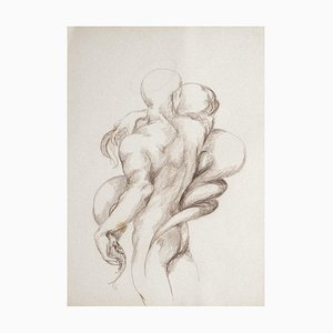Nude Study - Original Drawing in Charcoal by Debora Sinibaldi - 1985 1985