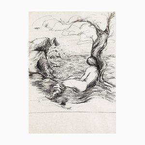 Nude Study - Original Drawing in Pencil by Debora Sinibaldi - 1985 1985