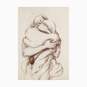 Nude Study - Original Drawing in Charcoal by Debora Sinibaldi - 1985 1985