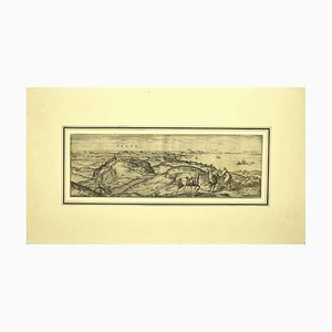 Vegel - Original Etching on Paper by George Braun - Early 17th Century Early 17th Century
