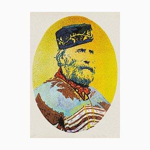 Portrait of Giuseppe Garibaldi - Original Siebdruck von Giacomo Spadari - 1982 1982
