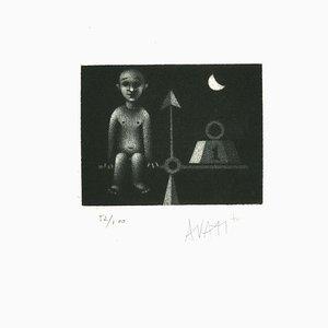 Balance - Original Etching on Paper by Mario Avati - 1960s 1960s