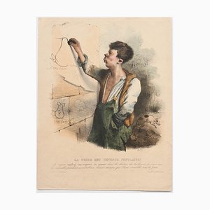 Pear Has Become Popular - Original Lithograph by C.-J. Traviès - 1830s 1830s