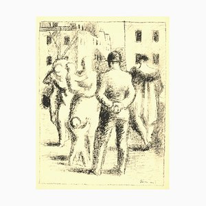 Walking Figures - Original Lithograph by W. Gimmi - Early 20th Century Early 20th Century