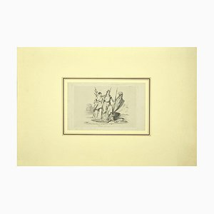 Liberty - Original Etching on Paper - 19th Century 19th Century