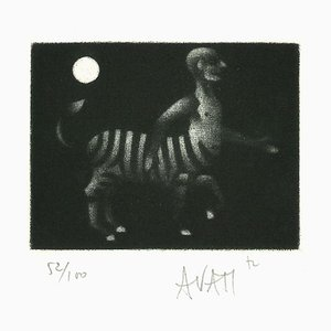 Hybrid Creature - Original Etching on Paper by Mario Avati - 1960s 1960s