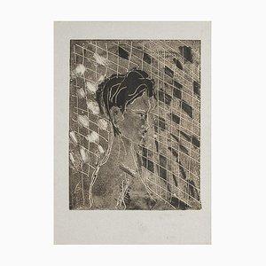 Woman's Profile - Original Monotype - 1950s 1950s