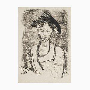 Woman - Original Monotype - 1950s 1950s