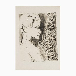 Woman's Profile - Original Monotype - 1950s 1950s