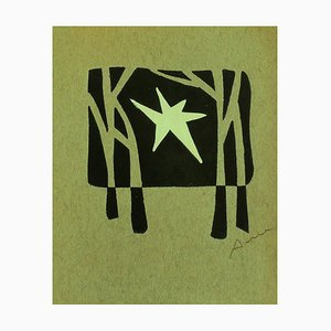 Christmast Card - Original Woodcut Print by Cuno Amiet - 1950s 1950s