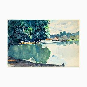Landscape - Marker und Aquarell von E. Pavarino - 1969 1969