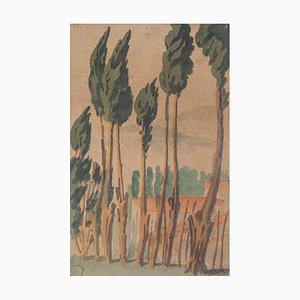 Countryside - Originales Aquarell auf Papier von Jean Delpech - 1937 1937