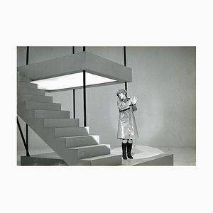 Italienische Sängerin Caterina Caselli während eines Videoclip - Vintage S / W Foto - 1960er 1960er Jahre