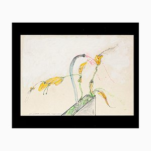 Carnivorous Plants - Original Pen and Watercolor by Sergio Barletta - 1975 1975