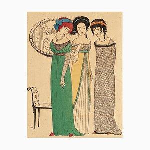 Three Models - Original Pochoir auf Papier von Paul Iribe - 1908 1908