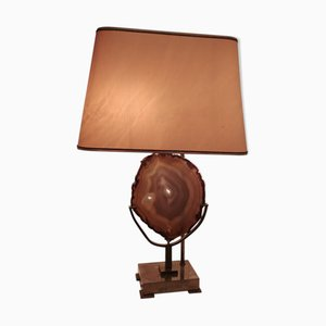 Lampada da tavolo in ottone di Willy Daro, anni '70