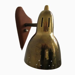 Mid-Century Danish Brass & Teak Sconce by Vilhelm Lauritzen for Fog & Mørup, 1950s