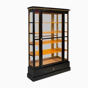 19th Century Austrian Empire Shellac Polish & Ebonized Display Cabinet