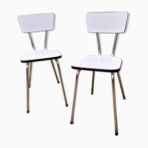 Formica Side Chairs, 1950s, Set of 2