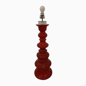 Large Red Ceramic Colonial Floor Lamp by Zallone Cari, 1960s