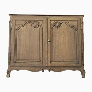 Antique French Rustic Cabinet in Raw Wood