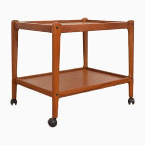 Mid-Century Danish Teak Serving Trolley from BRDR Furbo, 1960s