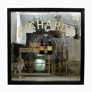 Large Roberts Distilleries Advertising Mirror from T & W IDE London