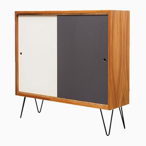 Highboard with Colored Sliding Doors & Hairpin Legs, 1960s