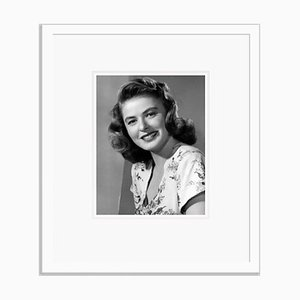 Ingrid Bergman Portrait Shoot Archival Pigment Print Framed in White by Everett Collection