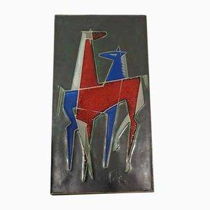 Große deutsche Wandtafel aus Keramik von Helmut Friedrich Schäffenacker für Atelier Schäffenacker, 1970er