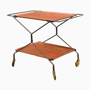 Teak Trolley with String Frame, 1960s