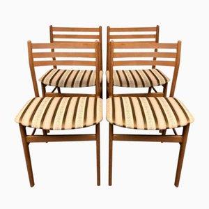 Oak Dining Chairs, 1970s, Set of 4