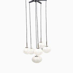 Kaskadenlampe mit 6 Leuchten, 1970er
