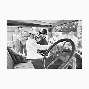 The Great Race Archival Pigment Print Framed in White by Bettmann