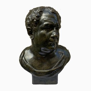 Antique Emperor Vitellius Bronze Bust