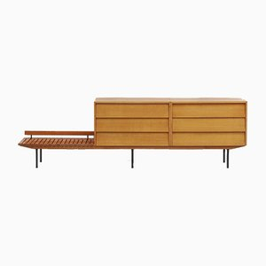Mid-Century Dresser with Luggage Rack by Florence Knoll Bassett for Knoll Inc. / Knoll International